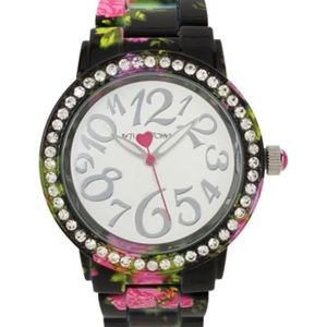 Betsey Johnson Pink Floral Watch 40mm